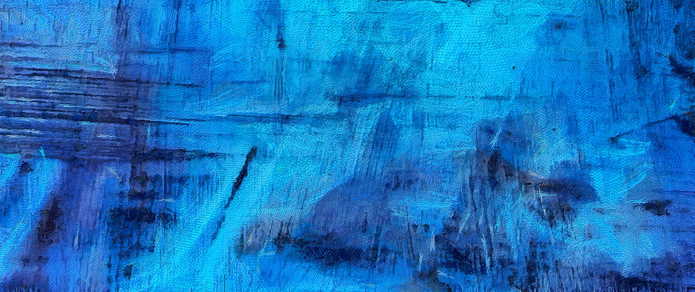 abstract art blue with black streaks